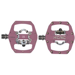 KCNC FR TRAP Clipless Pedal, pink, dual side, CroMo Spindle,