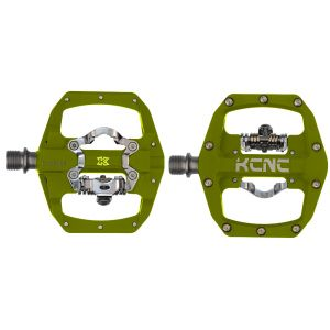 KCNC FR TRAP Clipless Pedal, ygreen, dual side, CroMo Spindle,  184g