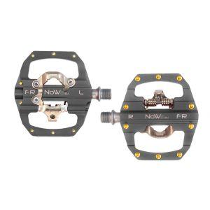 NOW8 Kombipedal LIGILO FR, ti-grey, ...g/pr, CroMo Axle, 10 Pins,